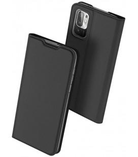 """Juodas atverčiamas dėklas Xiaomi Poco M3 Pro 5G / Redmi Note 10 5G telefonui """"Dux Ducis Skin Pro"""""""