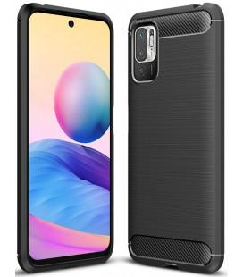 "Juodas dėklas Xiaomi Poco M3 Pro 5G / Redmi Note 10 5G telefonui ""Tech-Protect TPUCarbon"""