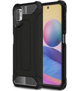 """Juodas dėklas Xiaomi Poco M3 Pro 5G / Redmi Note 10 5G telefonui """"Tech-Protect Xarmor"""""""