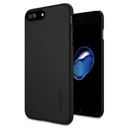 "Juodas dėklas Apple iPhone 7 Plus telefonui ""Spigen Thin Fit"""