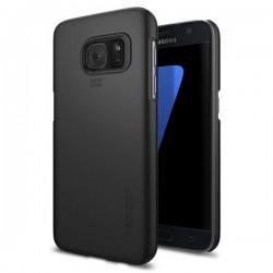 "Juodas dėklas Samsung Galaxy S7 G930 telefonui ""Spigen Thin Fit"""