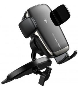"""Juodas automobilinis telefono laikiklis su belaidžio krovimo funkcija """"Joyroom JR-ZS248 CD Slot"""""""