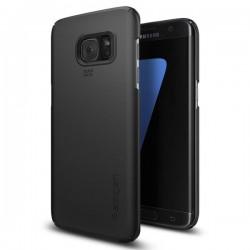 "Juodas dėklas Samsung Galaxy S7 Edge G935 telefonui ""Spigen Thin Fit"""