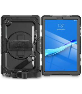 """Juodas dėklas Lenovo Tab M10 10.1 2nd TB-X306 planšetei """"Tech-Protect Solid360"""""""