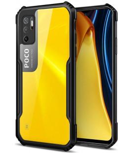 """Juodas dėklas Xiaomi Poco M3 Pro 5G / Redmi Note 10 5G telefonui """"Tech-Protect Beetle"""""""