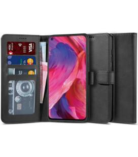 """Juodas atverčiamas dėklas Oppo A54 5G / A74 5G telefonui """"Tech-protect Wallet 2"""""""
