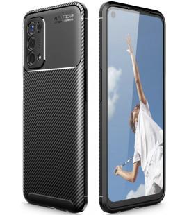 "Juodas dėklas Oppo A54 5G / A74 5G telefonui ""Tech-Protect TPUCarbon"""
