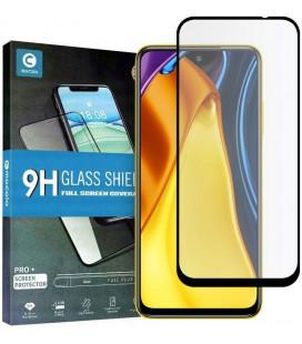 """Juodas apsauginis grūdintas stiklas Xiaomi Poco M3 Pro 5G / Redmi Note 10 5G telefonui """"Mocolo TG Full Glue"""""""