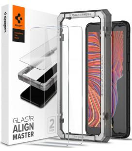 """Apsauginis grūdintas stiklas Samsung Galaxy Xcover 5 telefonui """"Spigen AlignMaster Glas tR 2-pack"""""""