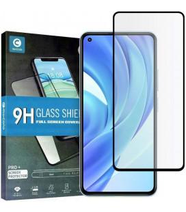 """Juodas apsauginis grūdintas stiklas Xiaomi Mi 11 Lite / Mi 11 Lite 5G telefonui """"Mocolo TG Full Glue"""""""