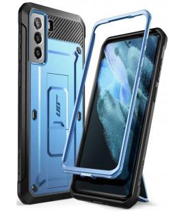 """Mėlynas dėklas Samsung Galaxy S21 telefonui """"Supcase Unicorn Beetle Pro"""""""