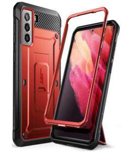 """Raudonas dėklas Samsung Galaxy S21 telefonui """"Supcase Unicorn Beetle Pro"""""""