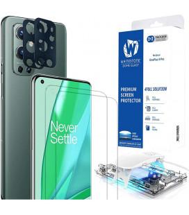 """Apsauginis grūdintas stiklas + kameros apsauga Oneplus 9 Pro telefonui """"Whitestone Dome Glass 2-set"""""""