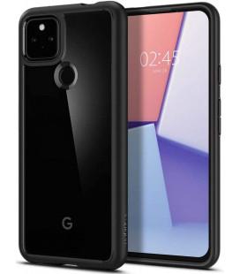 "Juodas dėklas Google Pixel 5A telefonui ""Spigen Ultra Hybrid"""