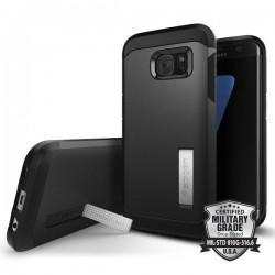 """Juodas dėklas Samsung Galaxy S7 Edge G935 telefonui """"Spigen Tough Armor"""""""