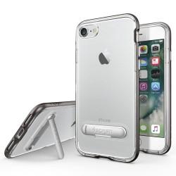 """Pilkas dėklas Apple iPhone 7 telefonui """"Spigen Crystal Hybrid"""""""