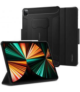 """Juodas atverčiamas dėklas Apple iPad Pro 12.9 2021 planšetei """"Spigen Rugged Armor PRO"""""""