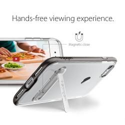 """Baltas atverčiamas dėklas LG G3 telefonui """"Telone Vertical POCKET"""""""