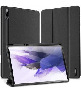 """Juodas atverčiamas dėklas Samsung GALAXY TAB S7 FE 12.4 T730 / T736B planšetei """"Dux Ducis Domo"""""""