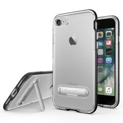 "Juodas dėklas Apple iPhone 7 telefonui ""Spigen Crystal Hybrid"""