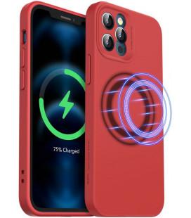 "Raudonas dėklas Apple iPhone 12 Pro Max telefonui ""ESR Cloud Soft Magsafe"""