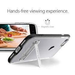 """Baltas atverčiamas dėklas LG Zero telefonui """"Telone Vertical POCKET"""""""