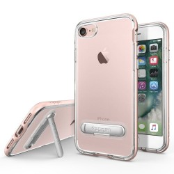 """Rausvai auksinės spalvos dėklas Apple iPhone 7 telefonui """"Spigen Crystal Hybrid"""""""