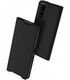 """Juodas atverčiamas dėklas Sony Xperia 1 III telefonui """"Dux Ducis Skin Pro"""""""