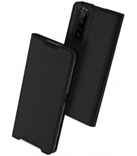 """Juodas atverčiamas dėklas Sony Xperia 5 III telefonui """"Dux Ducis Skin Pro"""""""