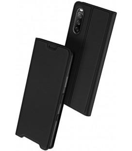 """Juodas atverčiamas dėklas Sony Xperia 10 III telefonui """"Dux Ducis Skin Pro"""""""
