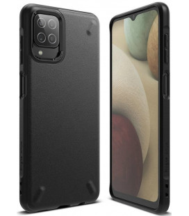 """Juodas dėklas Samsung Galaxy A12 2020 / 2021 telefonui """"Ringke Onyx"""""""