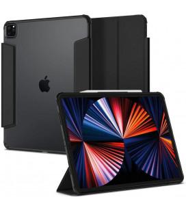 """Juodas atverčiamas dėklas Apple iPad Pro 12.9 2021 planšetei """"Spigen Ultra Hybrid Pro"""""""