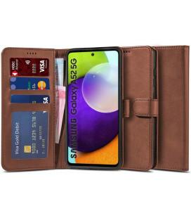"""Rudas atverčiamas dėklas Samsung Galaxy A52 LTE/5G telefonui """"Tech-protect Wallet 2"""""""