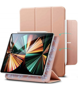 """Rausvai auksinės spalvos atverčiamas dėklas Apple iPad Pro 12.9 2020/2021 planšetei """"ESR Rebound Magnetic"""""""