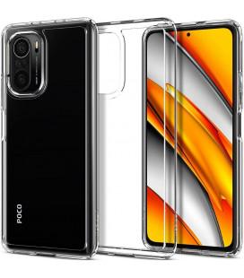 "Skaidrus dėklas Xiaomi Poco F3 / Mi 11i telefonui ""Spigen Ultra Hybrid"""