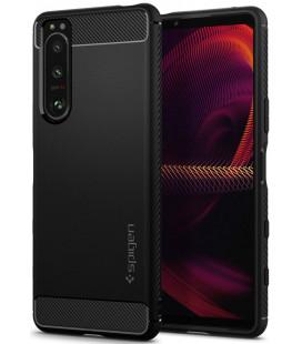 "Juodas dėklas Sony Xperia 5 III telefonui ""Spigen Rugged Armor"""