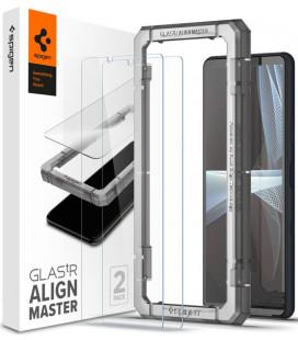 """Apsauginis grūdintas stiklas Sony Xperia 10 III telefonui """"Spigen AlignMaster Glas tR 2-pack"""""""