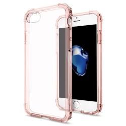 """Rausvai auksinės spalvos dėklas Apple iPhone 7 telefonui """"Spigen Crystal Shell"""""""