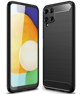"Juodas dėklas Samsung Galaxy A22 4G/LTE telefonui ""Tech-Protect TPUCarbon"""