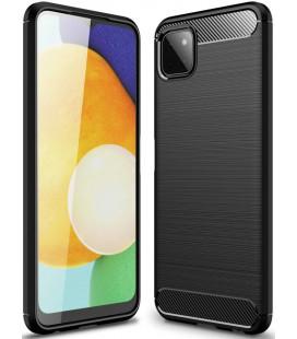 """Juodas dėklas Samsung Galaxy A22 5G telefonui """"Tech-Protect TPUCarbon"""""""