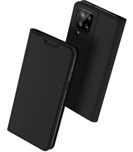 """Juodas atverčiamas dėklas Samsung Galaxy A22 4G/LTE telefonui """"Dux Ducis Skin Pro"""""""