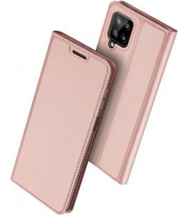 """Rausvai auksinės spalvos atverčiamas dėklas Samsung Galaxy A22 4G/LTE telefonui """"Dux Ducis Skin Pro"""""""