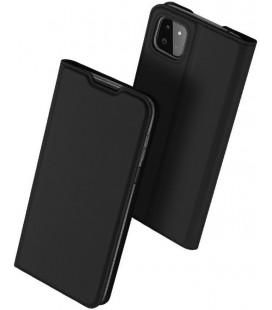 """Juodas atverčiamas dėklas Samsung Galaxy A22 5G telefonui """"Dux Ducis Skin Pro"""""""