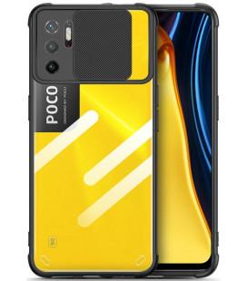 "Juodas dėklas Xiaomi Poco M3 Pro 5G / Redmi Note 10 5G telefonui ""Tech-Protect Camshield"""