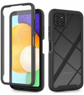 """Juodas dėklas Samsung Galaxy A22 5G telefonui """"Tech-protect Defense360"""""""
