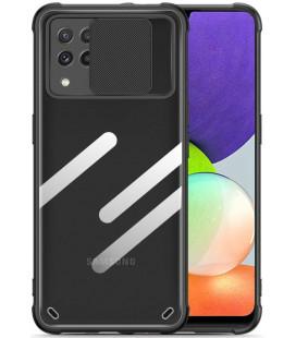 "Juodas dėklas Samsung Galaxy A22 4G/LTE telefonui ""Tech-Protect Camshield"""