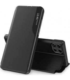 """Juodas atverčiamas dėklas Samsung Galaxy A22 5G telefonui """"Tech-protect Smart View"""""""