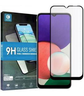 """Juodas apsauginis grūdintas stiklas Samsung Galaxy A22 5G telefonui """"Mocolo TG Full Glue"""""""