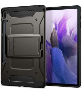 "Juodas dėklas Samsung Galaxy Tab S7 FE 5G 12.4 T730 / T736B planšetei ""Spigen Tough Armor Pro"""