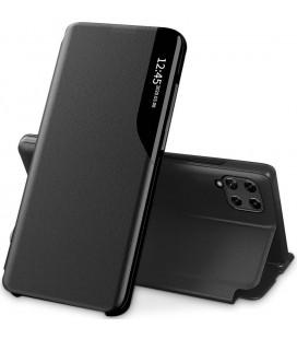 """Juodas atverčiamas dėklas Samsung Galaxy A22 4G/LTE telefonui """"Tech-protect Smart View"""""""